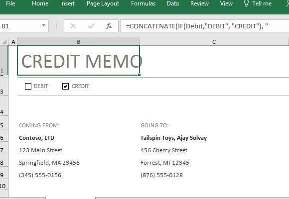 credit-and-debit-memo-template-in-excel - FPPT - debit memo template
