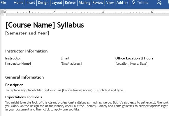 free-course-syllabus-template-for-word - FPPT - syllabus template word