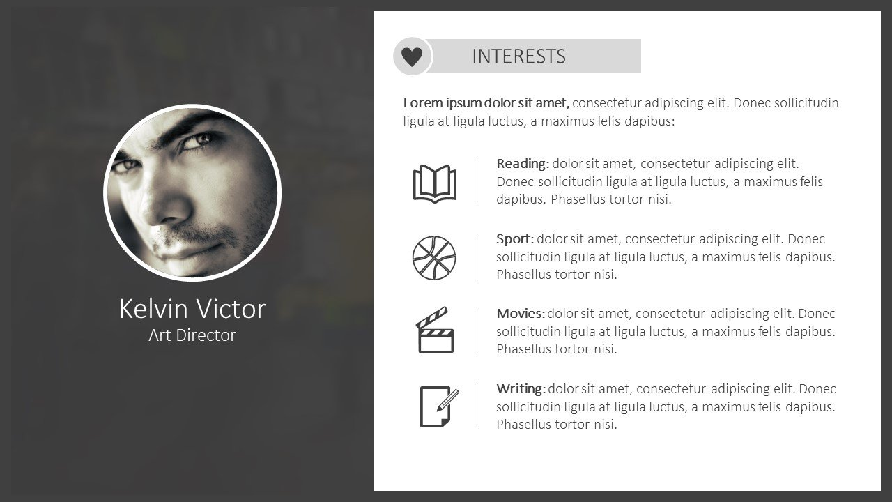 cv powerpoint template free download