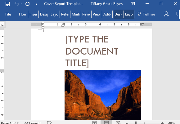 free word cover page template