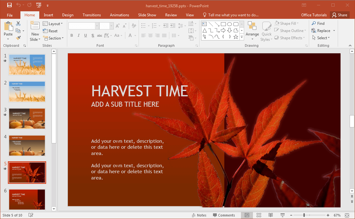fall power point template
