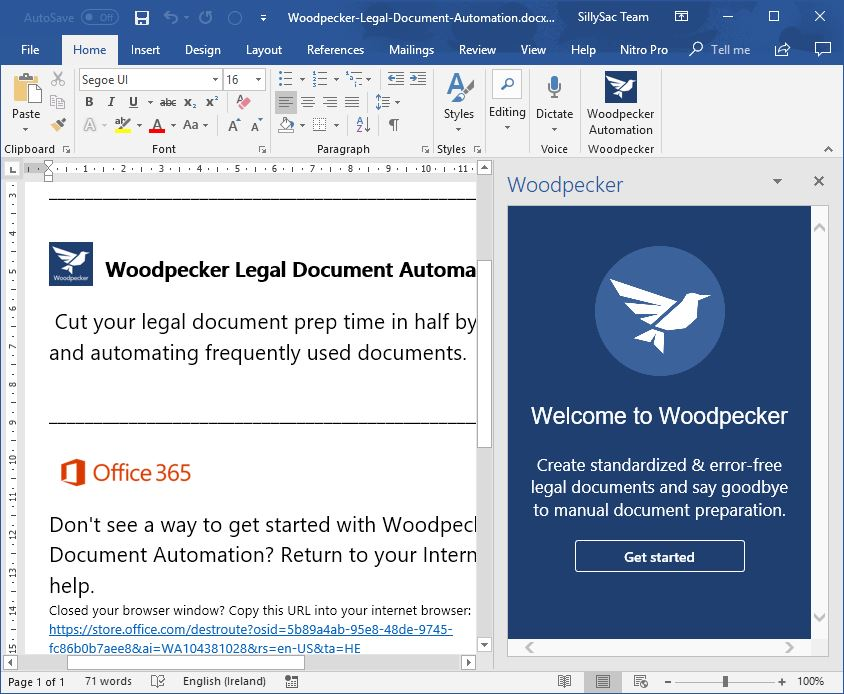 Standardize Legal Document Automation in Word with Woodpecker