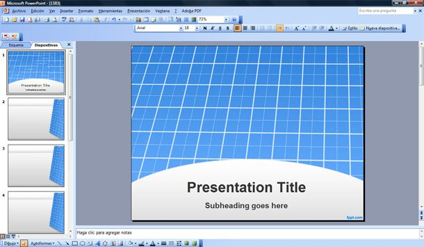 download background power point