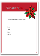 Free Printable Xmas Party Invitations. Curriculum Vitae Template