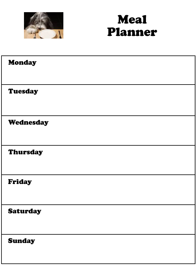 Free Printable Weekly Planners - Printable Weekly Planner Sheets - free printable weekly planner