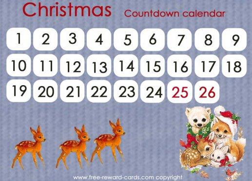 Free countdown calendars - Website