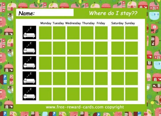Free daily routine charts - Website