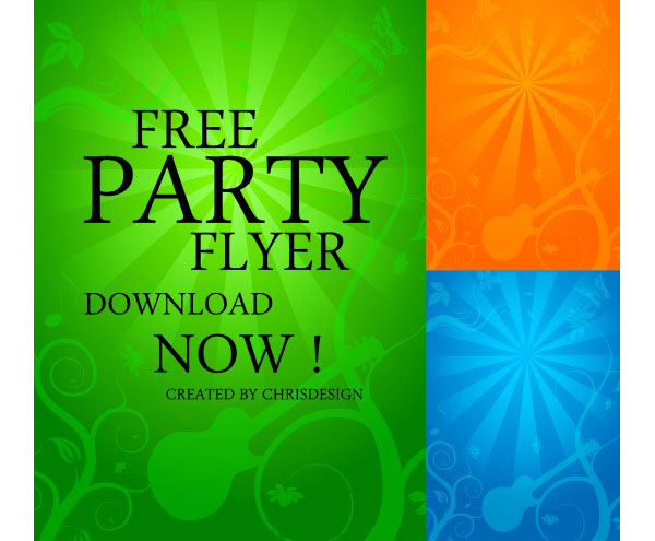 Party Flyer Background Vector Free Download Free Vector Art Free