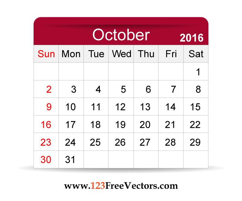 october editable calendar