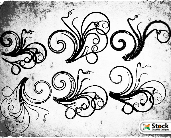 Floral Vector and Photoshop Brushes Download Free Vector Art