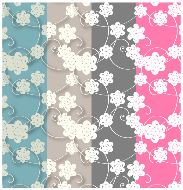 Paper Flowers Free Photoshop and Illustrator Patterns Download