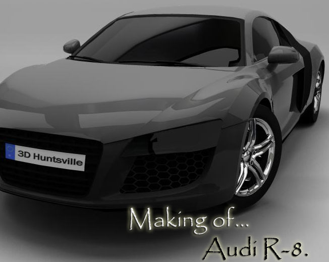 Making of AUDI R8 free3DTutorials - best of blueprint drawings of audi r8