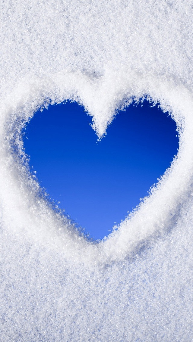 Free Download Wallpaper Apple 3d Blue Love Heart Of Snow Iphone 6 6 Plus And Iphone 5 4