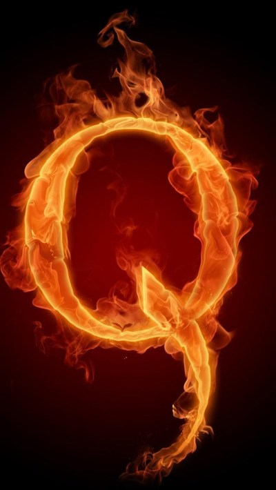Burning Letter Q Wallpaper - Free iPhone Wallpapers