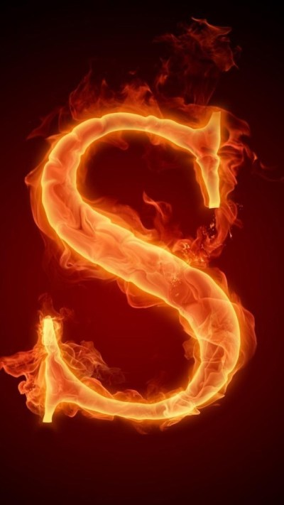 Burning Letter S iPhone 6 / 6 Plus and iPhone 5/4 Wallpapers
