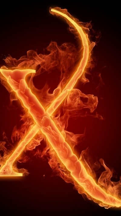 Burning Letter X Wallpaper - Free iPhone Wallpapers