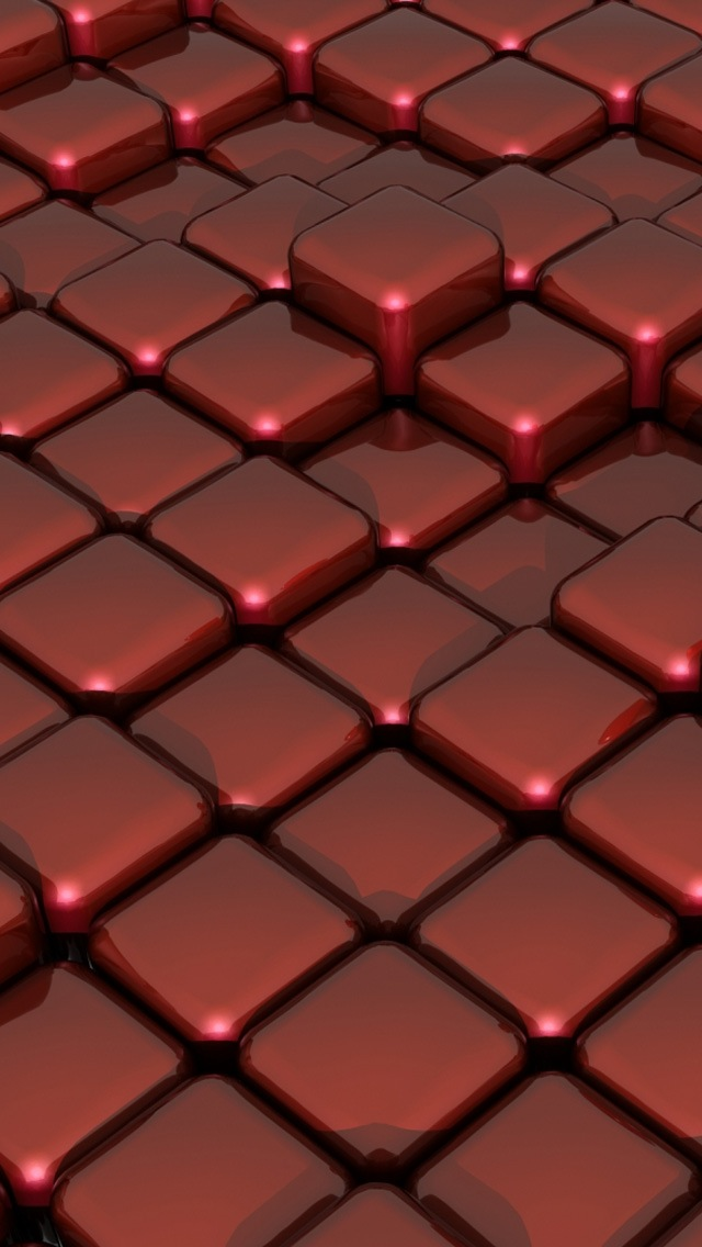 3d Wallpaper Parallax Pro 3d Red Cubes Iphone 6 6 Plus And Iphone 5 4 Wallpapers