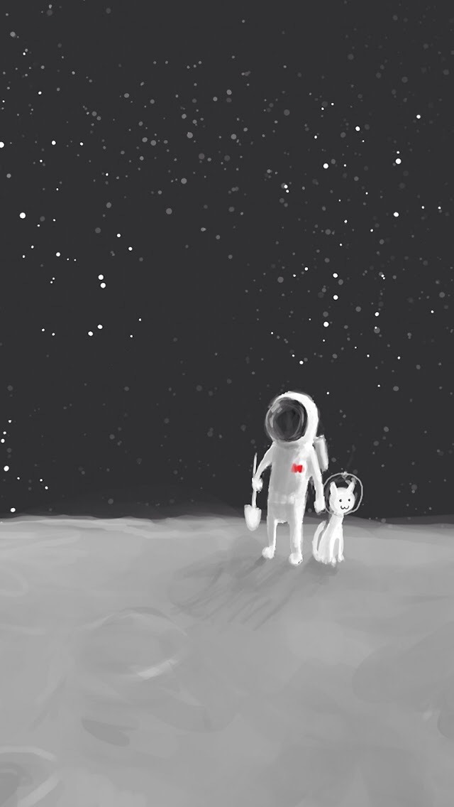 Cute Alien Computer Wallpapers Cartoon Hand Drawn Astronaut Iphone 6 6 Plus And Iphone