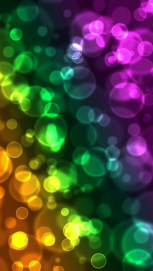 3d Wood Effect Wallpaper Colorful Blurred Bubbles Iphone 6 6 Plus And Iphone 5 4