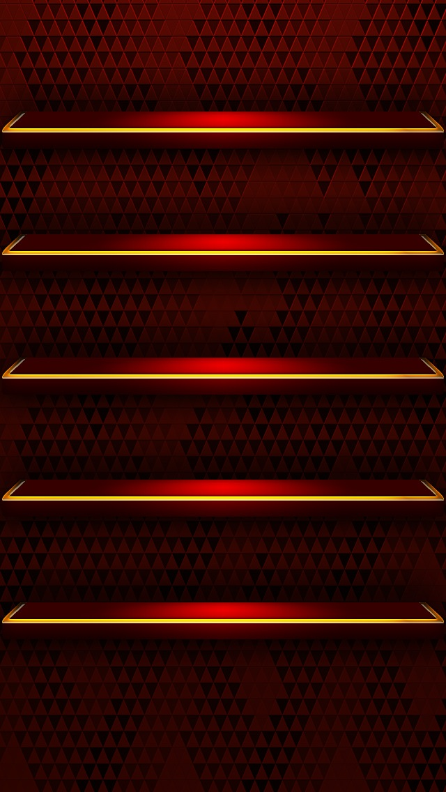 Bookshelf Iphone Wallpaper Red Glossy Shelves Iphone 6 6 Plus And Iphone 5 4 Wallpapers