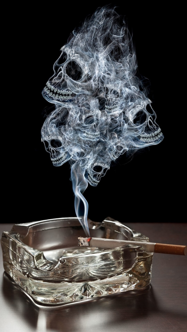 3d Wallpaper Parallax Free Smoking Skulls Iphone 6 6 Plus And Iphone 5 4 Wallpapers