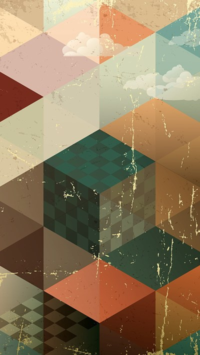 Vintage Abstract Geometries iPhone 6 / 6 Plus and iPhone 5/4 Wallpapers