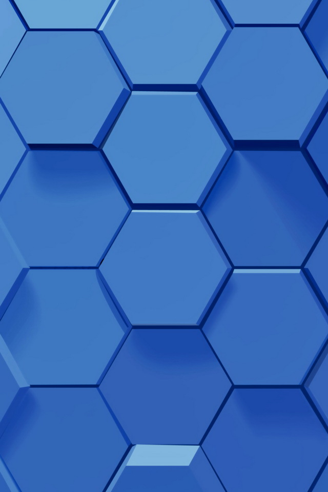 Sweet Home 3d Wallpaper Free Download 3d Blue Hexagons Iphone 6 6 Plus And Iphone 5 4 Wallpapers