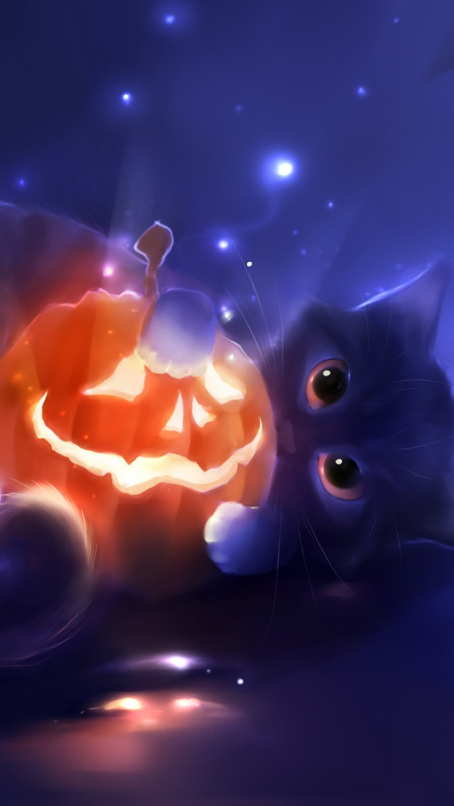 3d Wallpaper For Computer Gray Cats Black Cat Halloween Iphone 6 6 Plus And Iphone 5 4