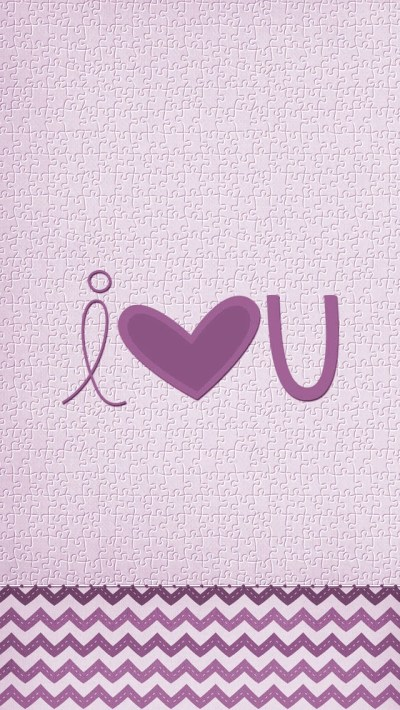 Purple I Love You iPhone 6 / 6 Plus and iPhone 5/4 Wallpapers