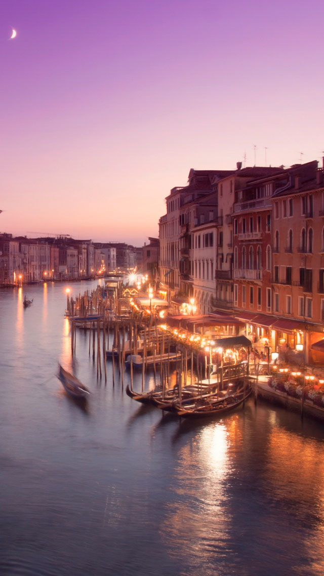 3d Bleach Wallpaper Venice Night Iphone 6 6 Plus And Iphone 5 4 Wallpapers