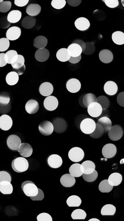 Black and White Bokeh Wallpaper - Free iPhone Wallpapers