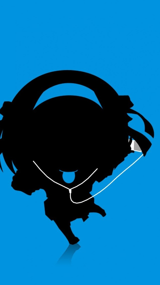 Girl Listening To Headphones Wallpaper Cartoon Music Girl Silhouette Iphone 6 6 Plus And Iphone