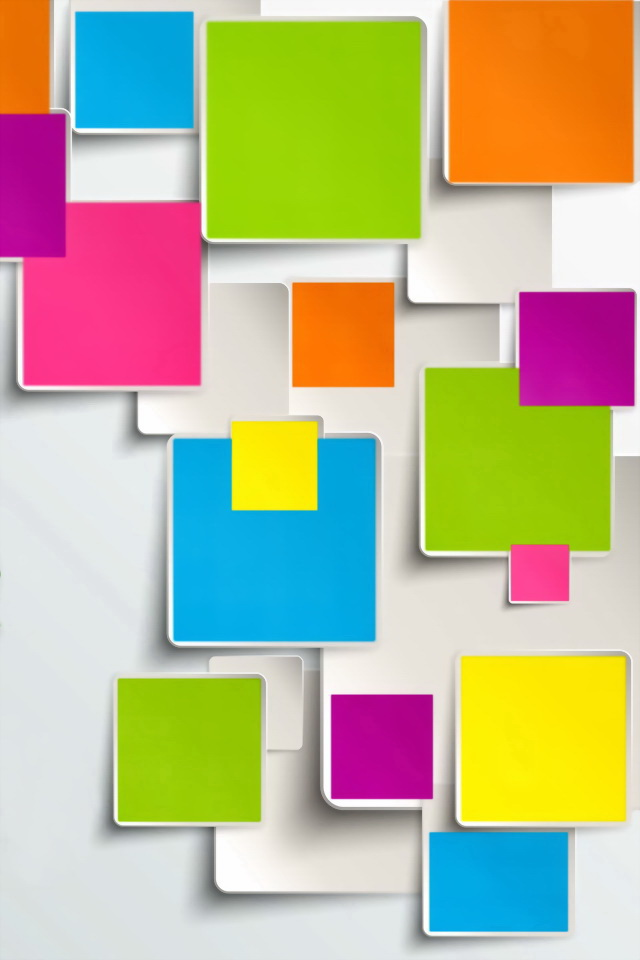 3d Wallpaper Parallax Free Colored Paper Sticky Notes Iphone 6 6 Plus And Iphone 5