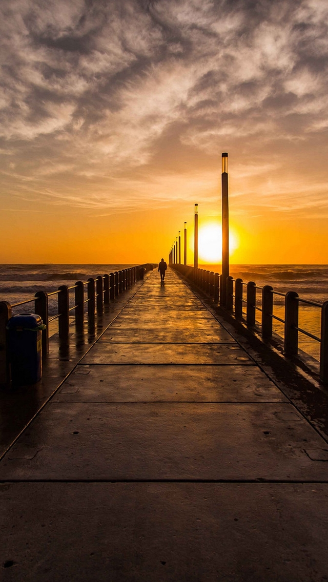The Best Iphone 4s Wallpapers Pier Sunset Iphone 6 6 Plus And Iphone 5 4 Wallpapers
