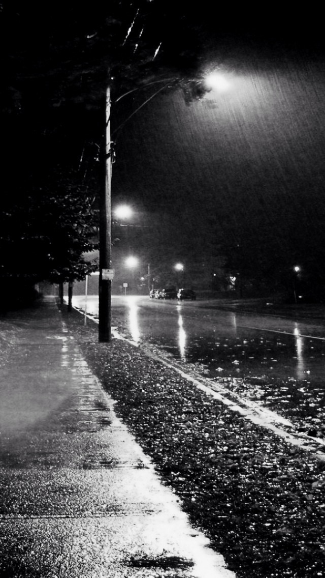 Iphone 4s Wallpapers Free Rainy Street Night Iphone 6 6 Plus And Iphone 5 4 Wallpapers