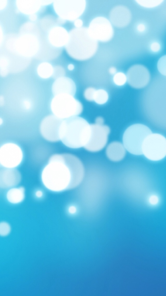 3d Wallpaper Parallax Free Bright Blue Bokeh Iphone 6 6 Plus And Iphone 5 4 Wallpapers