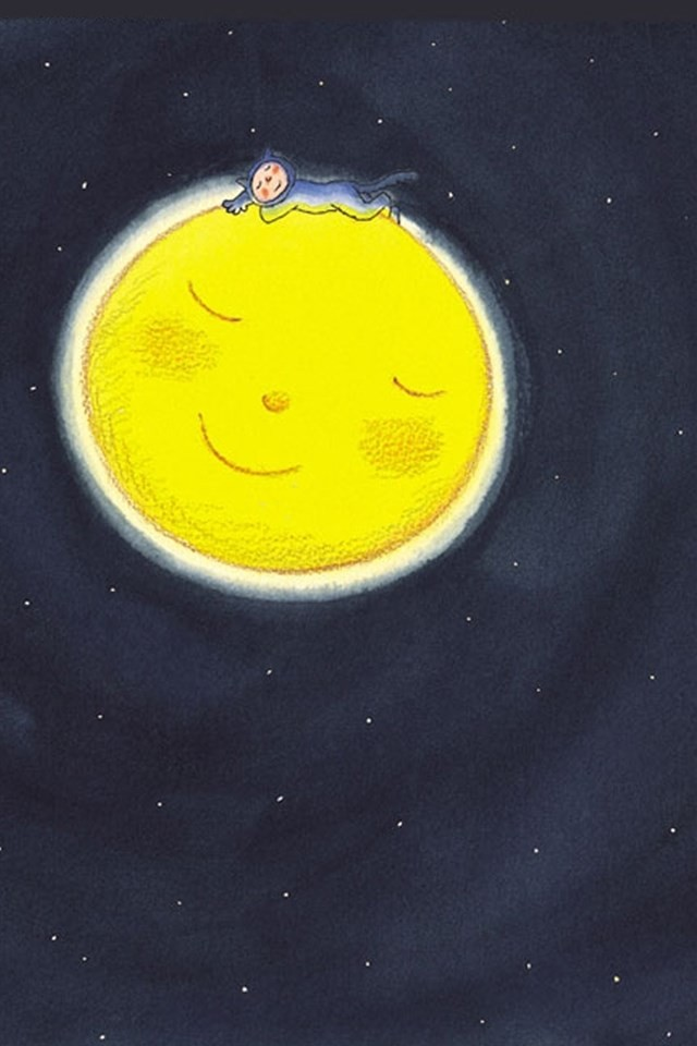 Lovely Cute Girl Wallpaper Children Painting Moon Wallpaper Free Iphone Wallpapers