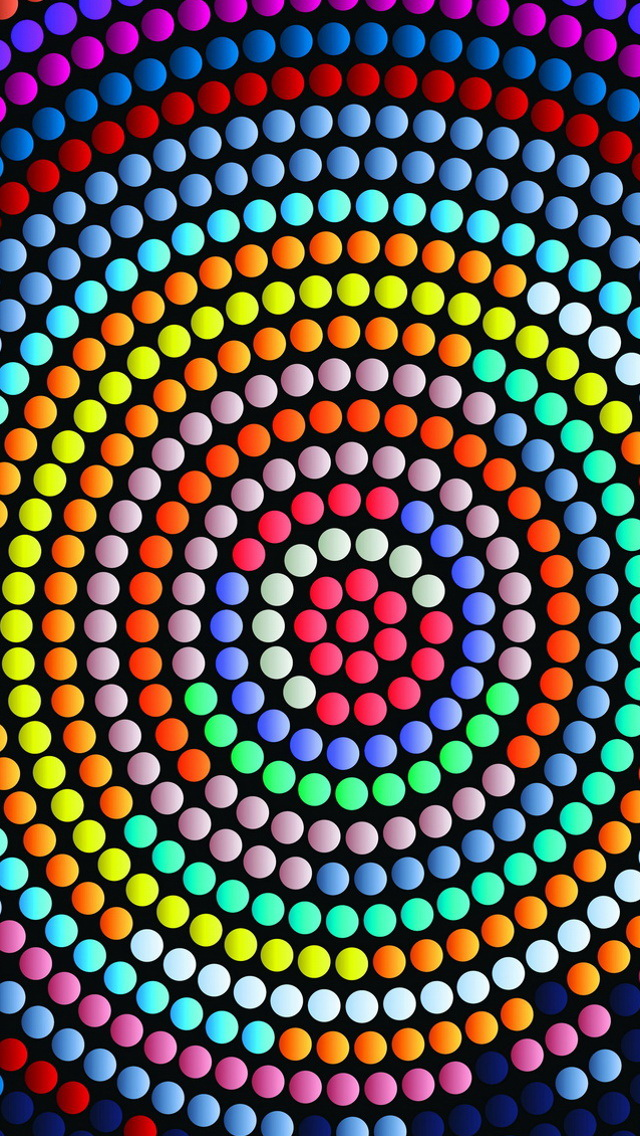 Girl Boss Wallpaper Iphone Colorful Abstract Centrifugal Dots Wallpaper Free Iphone