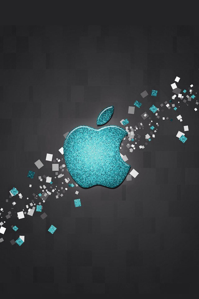 Iphone 5 Wallpaper Hd Shelves Glitter Blue Apple Logo Iphone 6 6 Plus And Iphone 5 4