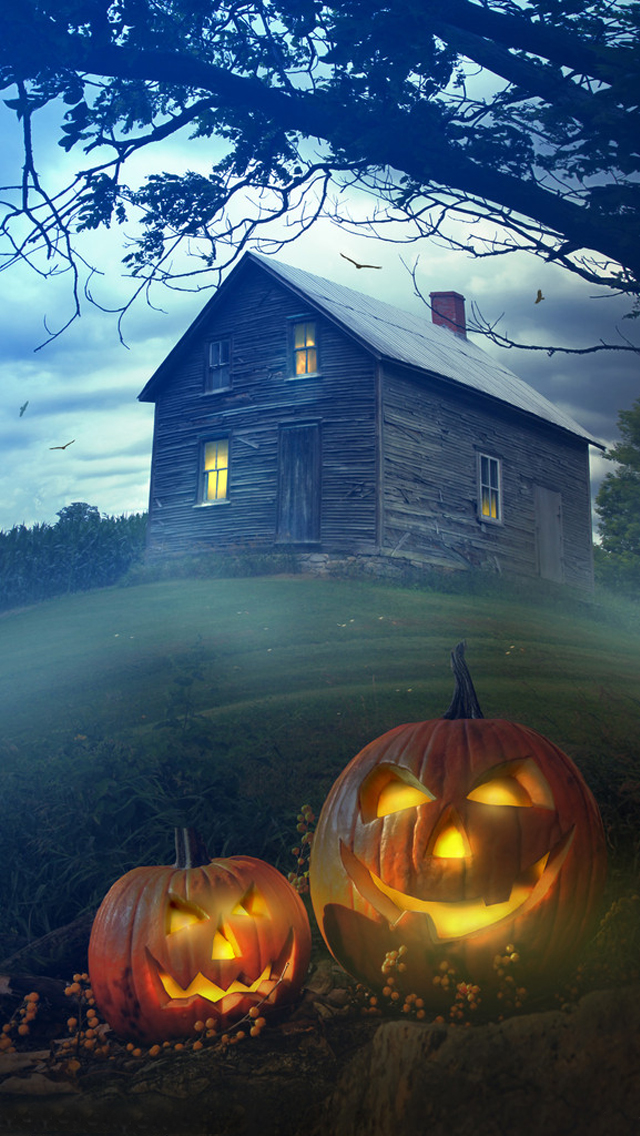 Haunted House 3d Live Wallpaper Download Halloween Dawn Wallpaper Free Iphone Wallpapers