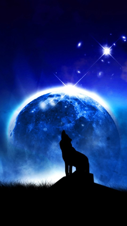 Transformers Iphone 6 Plus Wallpaper Howling Wolf In The Moonlight Wallpaper Free Iphone