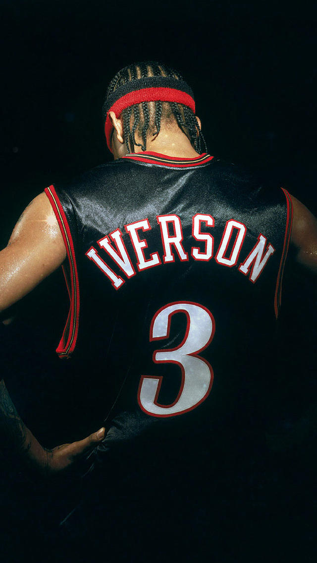 Lovely Girl Wallpaper 3d Allen Iverson Back Iphone 6 6 Plus And Iphone 5 4 Wallpapers