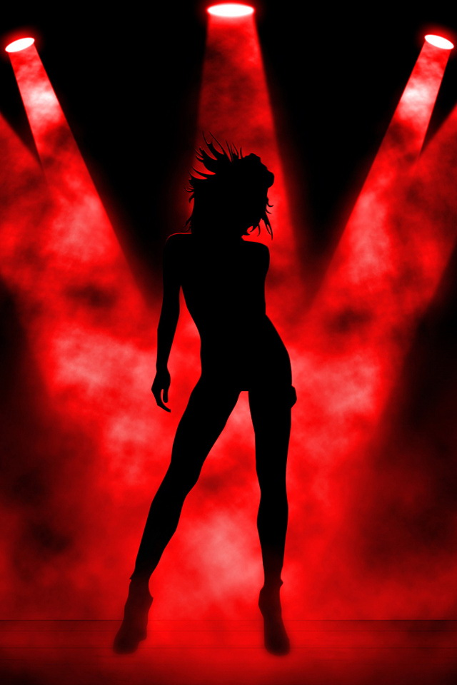 Smoking Girl Wallpaper Iphone Dance Girl Silhouette Iphone 6 6 Plus And Iphone 5 4