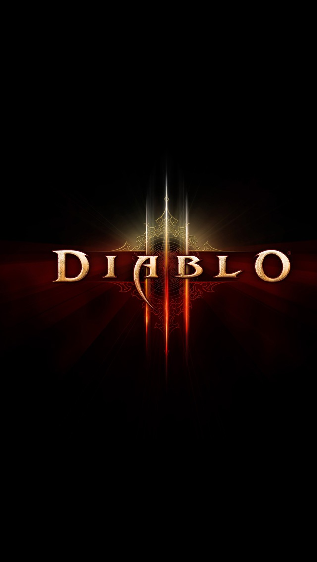 Bright Wallpapers For Iphone 6 Diablo Iii Logo Iphone 6 6 Plus And Iphone 5 4 Wallpapers