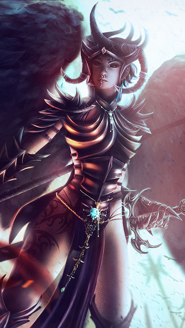 Smoking Girl Wallpaper Iphone Female Warrior With Wings Iphone 6 6 Plus And Iphone 5 4