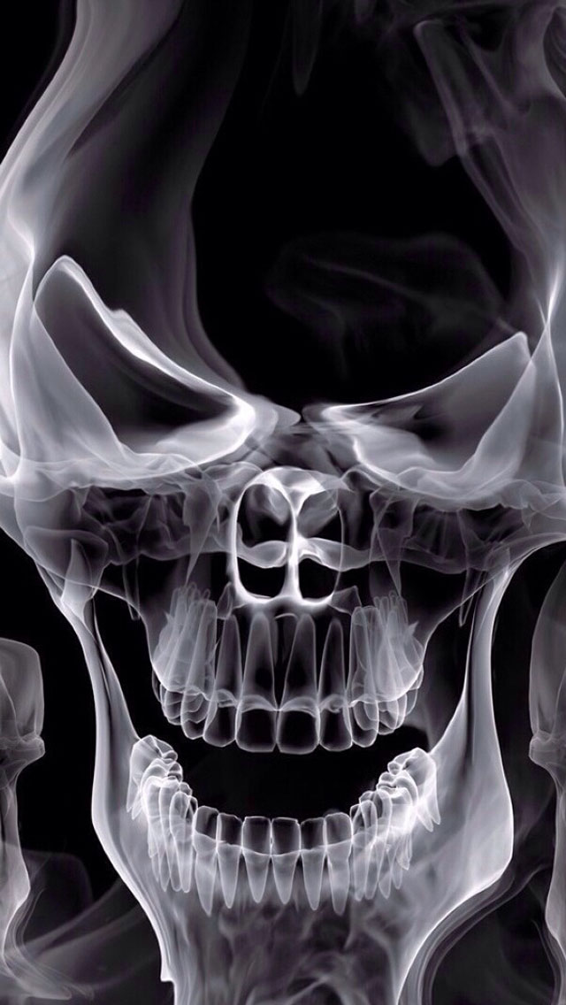 Cool 3d Skull Wallpapers Skull X Ray Iphone 6 6 Plus And Iphone 5 4 Wallpapers