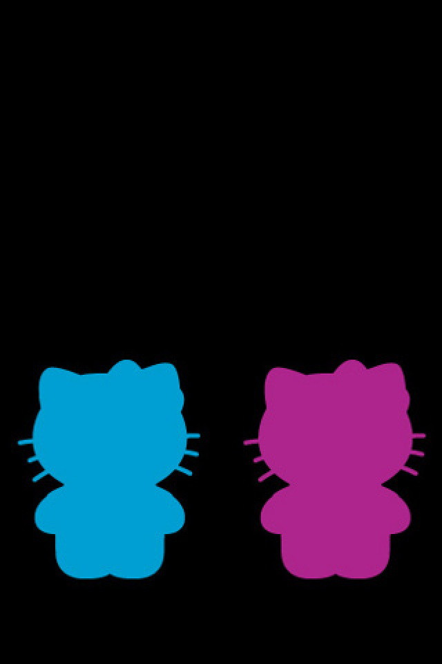 Wallpaper Download Alone Girl Hello Kitty Silhouette Wallpaper Free Iphone Wallpapers