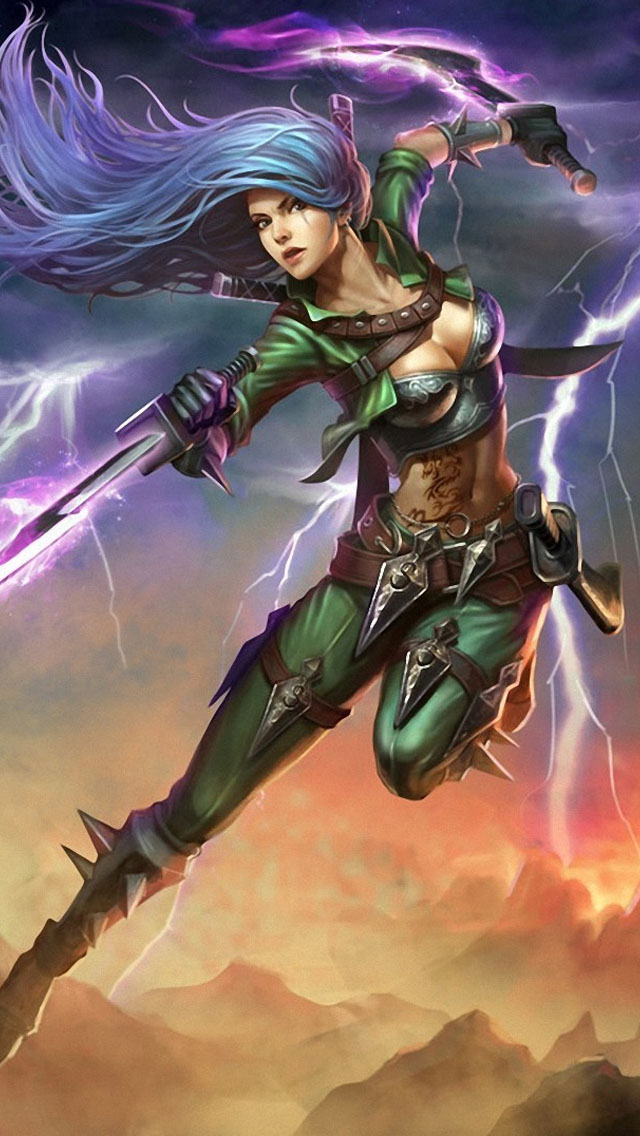 Iphone 5s Animated Wallpaper League Of Legends Katarina Iphone 6 6 Plus And Iphone 5