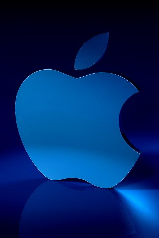 3d Wallpaper Android Parallax Blue 3d Apple Logo Iphone 6 6 Plus And Iphone 5 4 Wallpapers