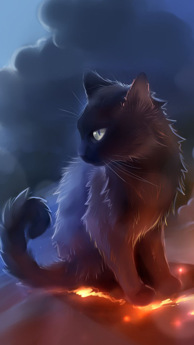 Sad Quotes Wallpaper Iphone 5 Black Cat Anime Iphone 6 6 Plus And Iphone 5 4 Wallpapers